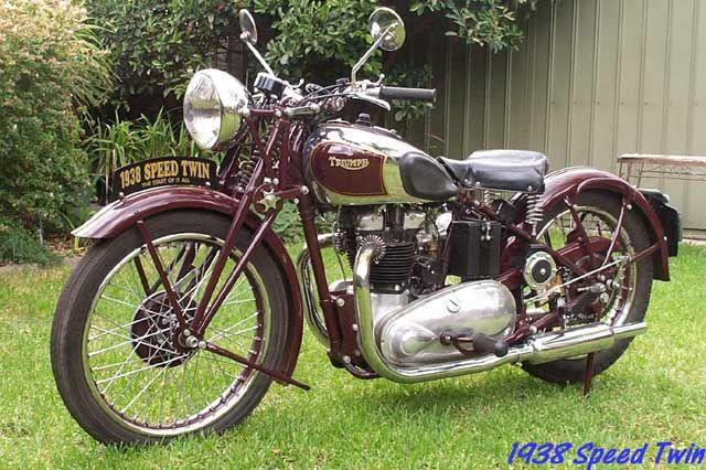 Vintage Triumph Motorcycles 1938 Speed Twin