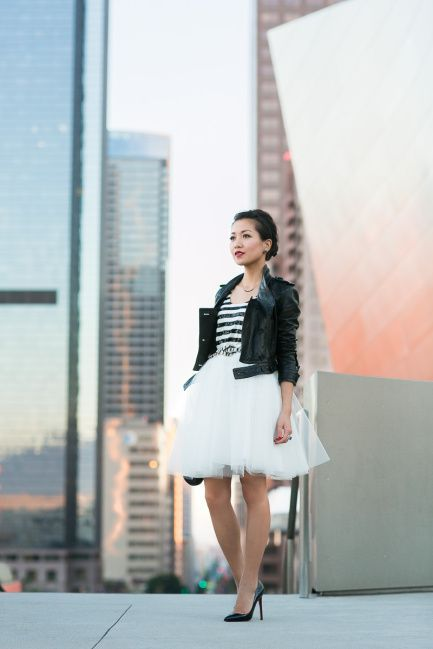 Perfect look with tulle skirt!