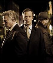 Whitechapel (TV series) --- Whitechapel is a British television drama series produced by Carnival Films,[1] in which detectives in London's Whitechapel district dealt with murders which replicated historical crimes. The first series was first broadcast in the UK on 2 February 2009 and depicted the search for a modern copycat killer replicating the murders of Jack the Ripper.