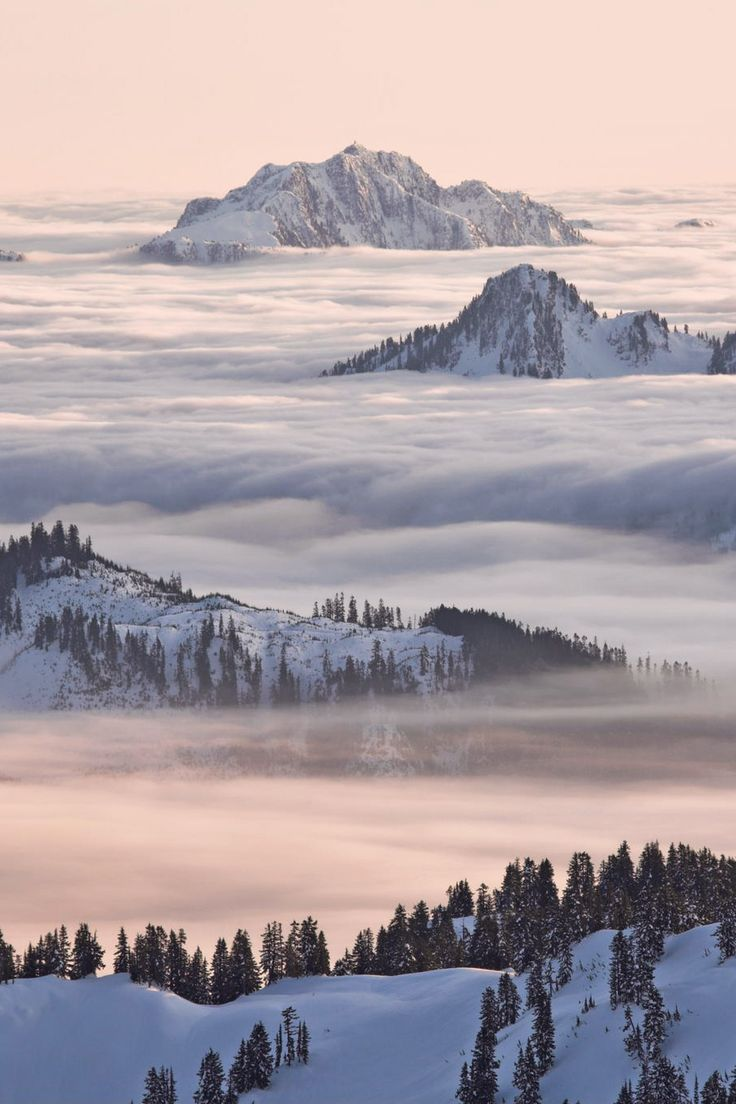 North Shore Mountains above the clouds from Garibaldi Park by Christopher Barton