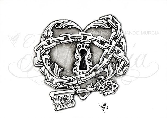 Heart lock key tattoo I feel like this is us to a T our ...