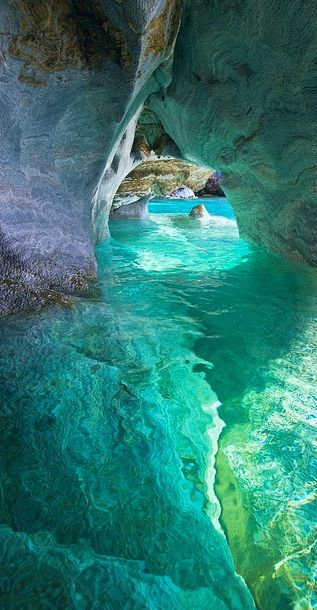 Marble Cathedral - Patagonia, Chile #Travel #Inspiration #getaway #blue #crystalclear