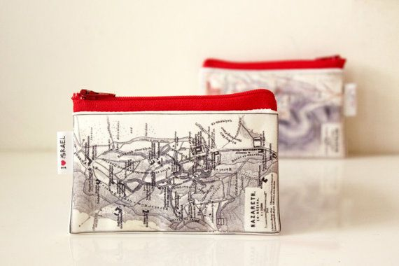 Womens wallet mens wallet zipper pouch printed with the by efratul