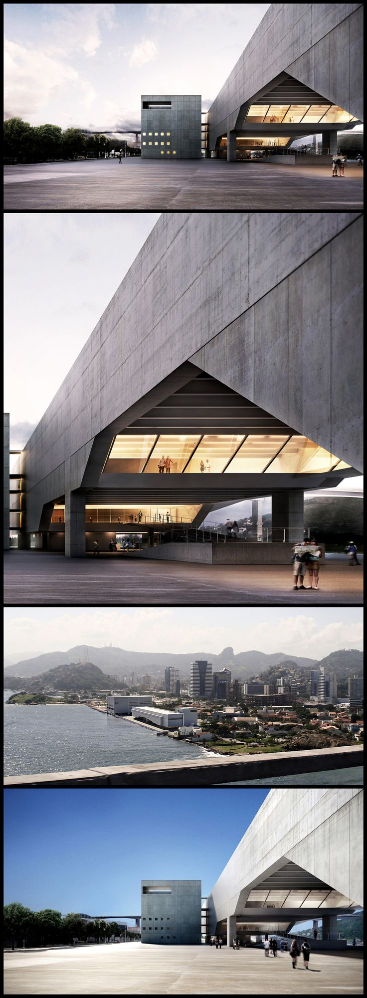 The building was designed by Paulo Mendes da Rocha and Metro Arquitetos Associados, and comprised of a museum and a theater equipped to host large scale art events.
