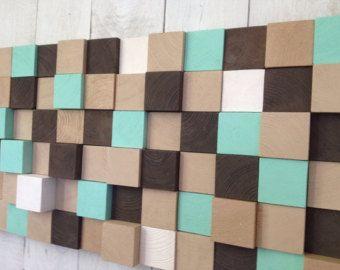Modern Wood Wall Art Setting Sun by moderngeometrics on Etsy