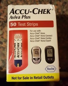 a 50 accu chek aviva plus diabetic test strips 150ct bx exp 0618sale