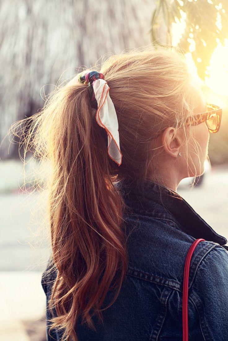 i like the hanky around the ponytail idea