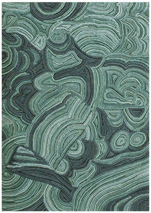 Malachite woven rug