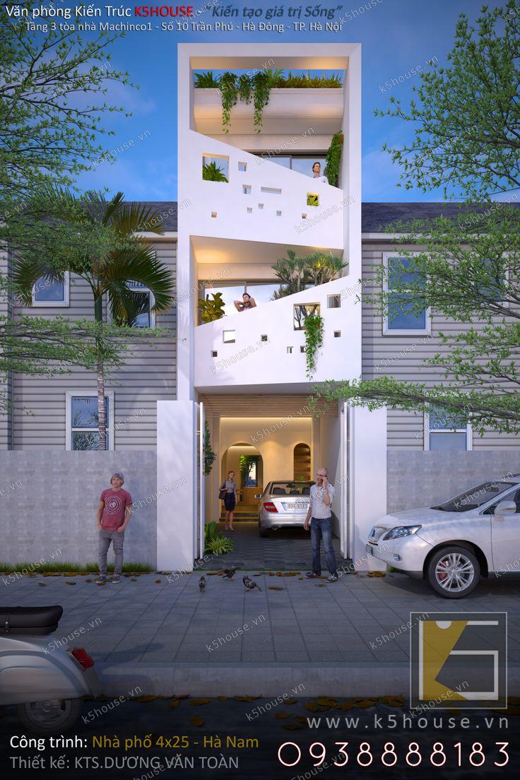 Thiết kế nhà lô phố đẹp 4×25 Hiện đại Tinh Tế