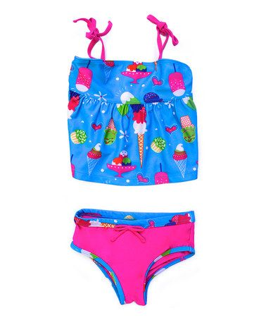 Look at this #zulilyfind! Turquoise Ice Cream Tankini - Infant & Toddler by Pink Platinum #zulilyfinds