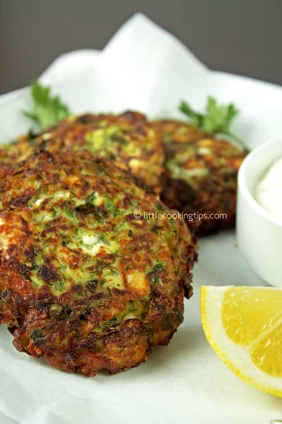Greek zucchini and feta fritters (Kolokythokeftedes)