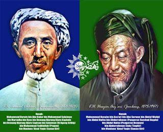 KH Ahmad Dahlan & KH Hasyim Asy'ari