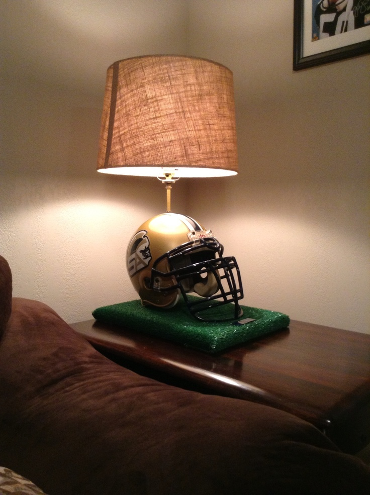 Football Helmet Lamp For The Home Pinterest Football