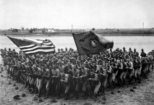 USMC recruiting publicity photo, 1918