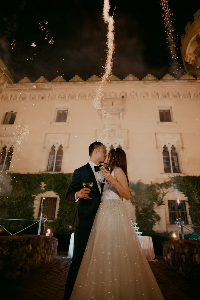 Colorful And Opulent Castell De Sant Marcal Wedding Junebug Weddings In 2020 Wedding Reception Inspiration Wedding Junebug Weddings