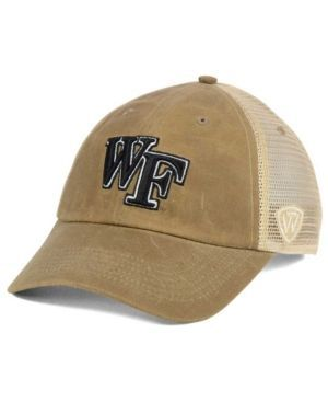 Top of the World Wake Forest Demon Deacons Mudd 2 Tone Mesh Cap - Brown Adjustable