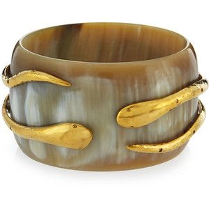 Ashley Pittman Light Horn Double-Snake Bangle Bracelet