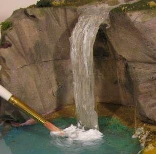 Cascada de agua para Belen con cola