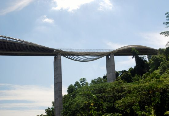 henderson bridge in singapore a new elevated walkway that connects mount faber park and telok blangah hill park