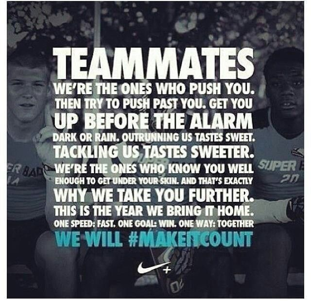 Motivational Quotes For Sports Teams: Love My Team!! They Motivate Me Beyond What I Thought Was