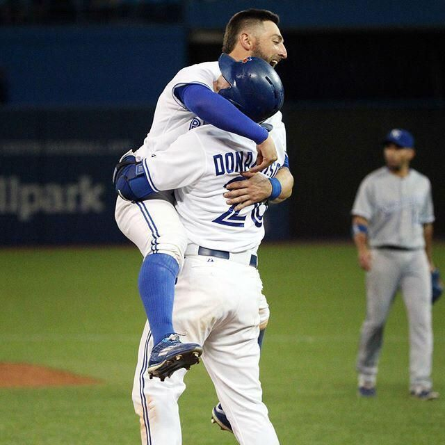 Kevin Pillar❤️ & Josh Donaldson❤️ - Did Kevin see a spider? Oh, wait, that's my reaction! #GoBlueJays