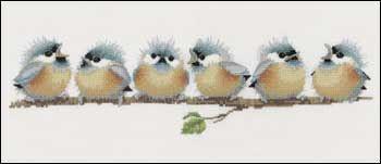 harmonies v.pfeiffer - point de croix oiseaux - broderie oiseau au point compté