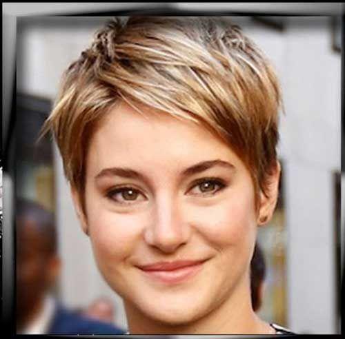 8.Shailene Woodley Kurzen Haarschnitt