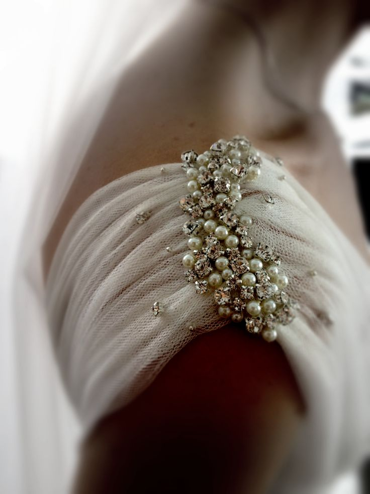 Lihi Hod wedding gown S/S 2013 - pearl sleeve detail - wedding photography http://www.pinterest.com/JessicaMpins/
