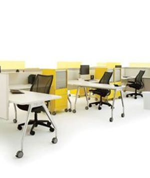 """Schiavello's Marina Workstations and Tables is manufactured in Australia and is available as both fixed and adjustable height options.  Schiavello's range of products meets the requirements of the GreenTagCert™ Standard and operates a """"Product Stewardship Program"""" to take back workstations at the end of service life for refurbishment or recycling."""
