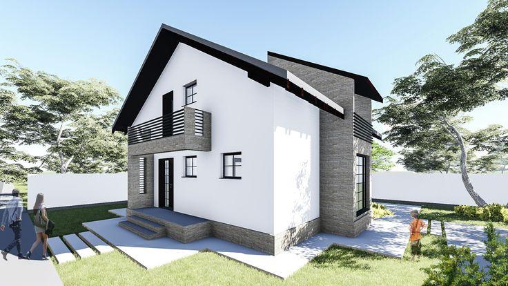 Proiect Casa AORA Parter + Mansarda | 5 Camere | 130mp. Mai Multe Detalii  Gasiti
