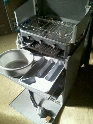 Campervan / camper van interior removable cooker / kitchen unit inc water & gas | eBay