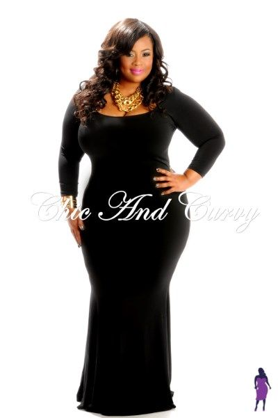New Arrival: New Plus Size Bodycon Long Dress in Black Arrival: http://www.chicandcurvy.com/newarrivals/product/10330-new-plus-size-body-con-long-dress-black-1x-2x-3x Model: Janna Plus Model