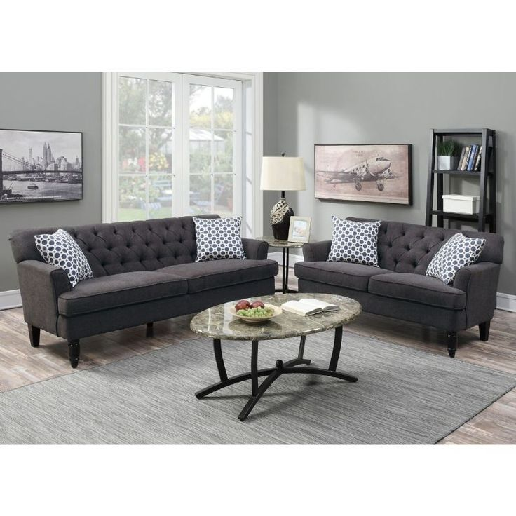 Bermuda 5 Seat Linen Fabric Sofa Set in Dark Grey shopping, Buy Lounge Suites online at MyDeal for best deals, coupons, bargains, sales