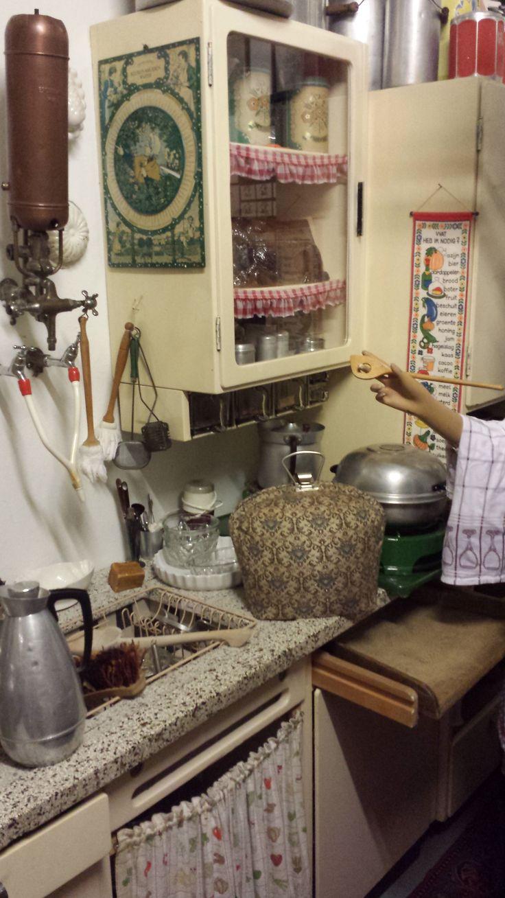 Oude keuken in Museum Terschuur Holland