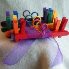 Doll-Sized Coat Hangers with Clips - Set of 6
