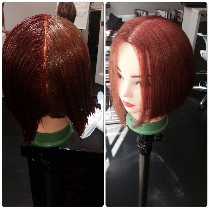 Before and after colour application