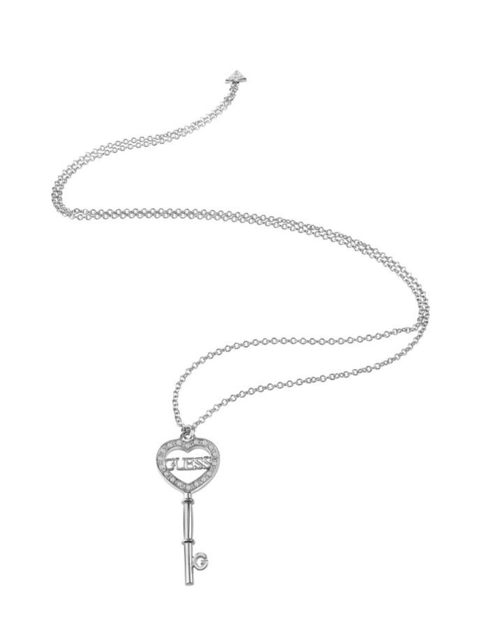 EUR69.00$  Watch now - http://vigny.justgood.pw/vig/item.php?t=k7d8g754191 - KEY ELEMENT RHODIUM-PLATED NECKLACE