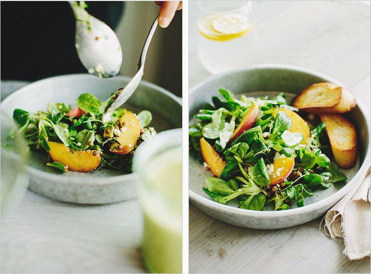 peach & mache salad . sprouted kitchen