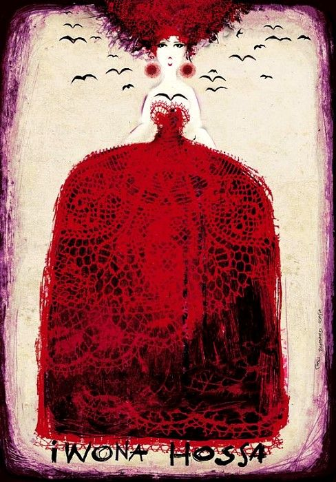 Iwona Hossa - opera singer   Original Polish opera poster   designer: Ryszard Kaja   year: 2011