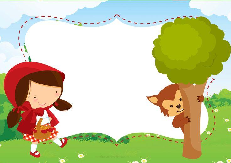 Convite Chapeuzinho Vermelho Floresta