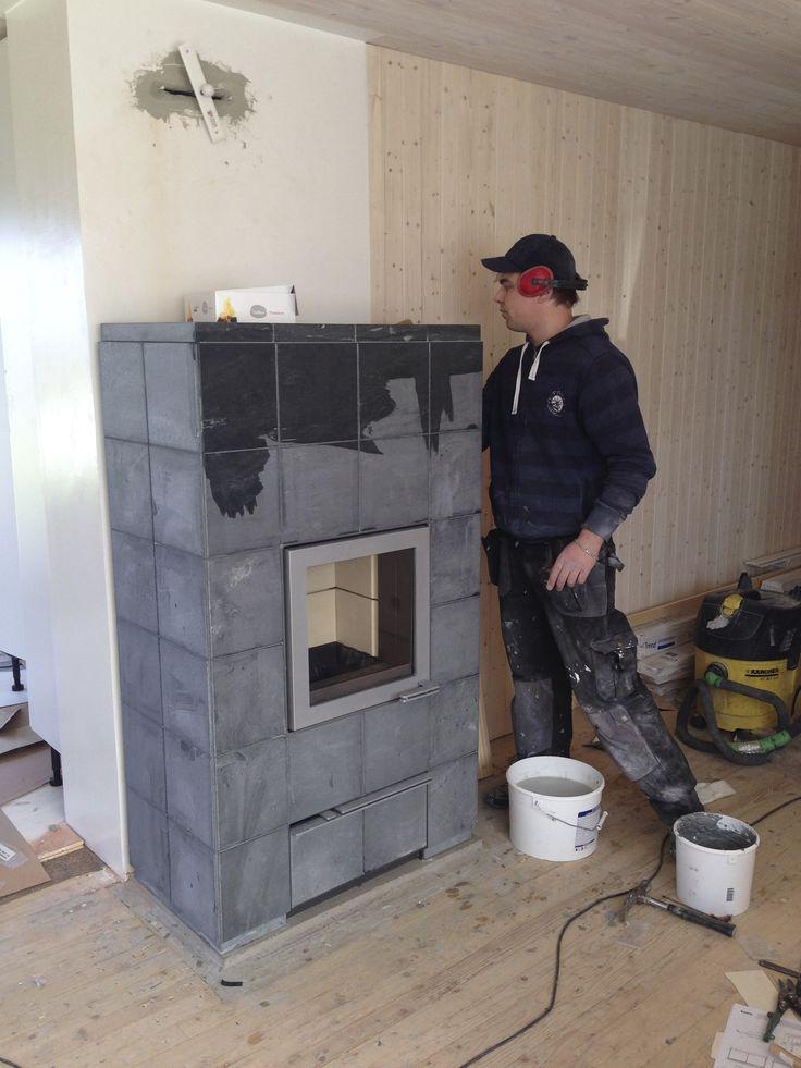 Tulikivi vasa fireplace almost ready.