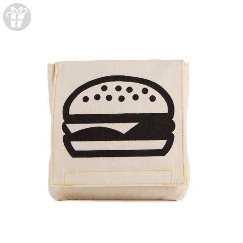 Fluf Organic Cotton Single Snack Pack Lunch Bag, Burger (*Amazon Partner-Link)