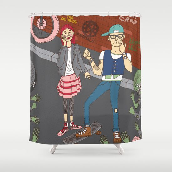 The zombie attack Shower Curtain