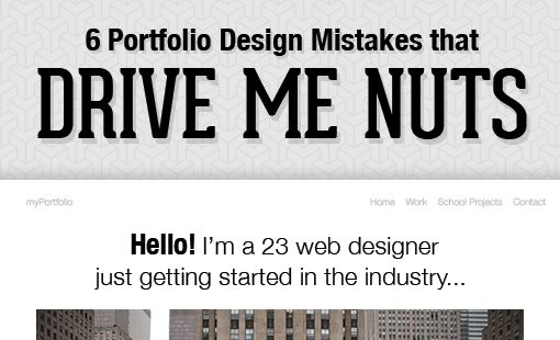6 Portfolio Design Mistakes That Drive Me Nuts