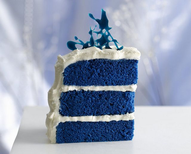 Royal Blue Velvet Cake Recipe by Betty Crocker Recipes...pretty!