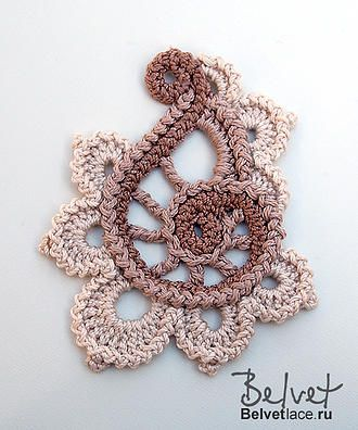 Fern pattern Irish Crochet Lab