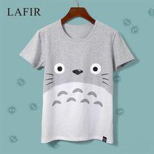 Anime japonés Totoro T Shirt Prints 2015 Womens Casual manga corta Emoji…