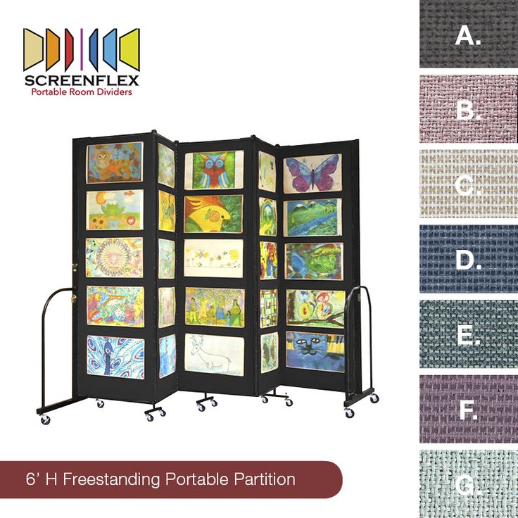 Divide and conquer! Screenflex's Freestanding Portable Partitions are great for dividing large spaces into semi-private areas with tackable panels for extra display space. The partitions are customizable with 25 colors to choose from. Which color would you choose? Click for more details and additional colors!