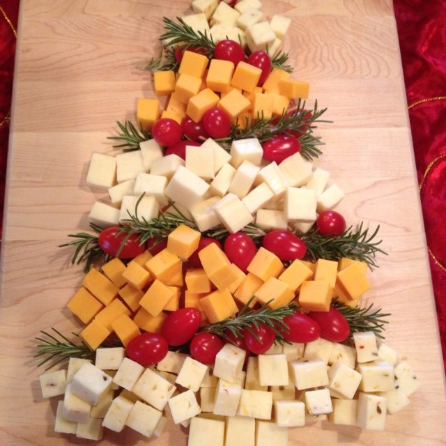 My Christmas tree cheese platter was a hit! :) | Christmas