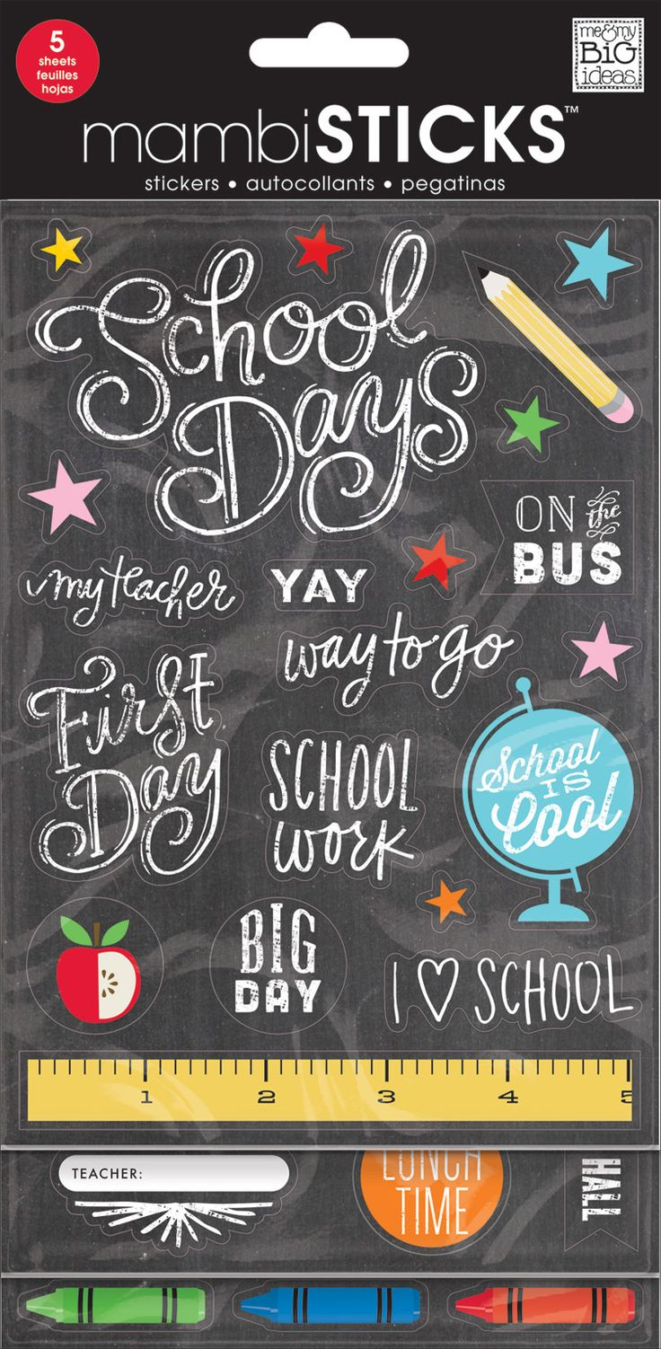What's better than a sheet of chalkboard stickers? 5 sheets of chalkboard stickers! This value, flip-pack features paper stickers with popular words, phrases and icons that make it so easy to add a sp
